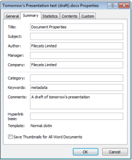 MS Office Document Properties