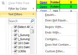 Text Filters