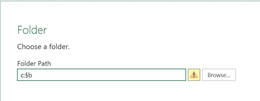 2. Power Query - Enter Folder